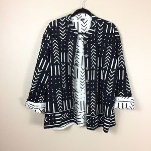 I.T.F. 100% cotton reversible blazer jacket